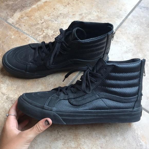 Vans Shoes | Nwot Black Leather High